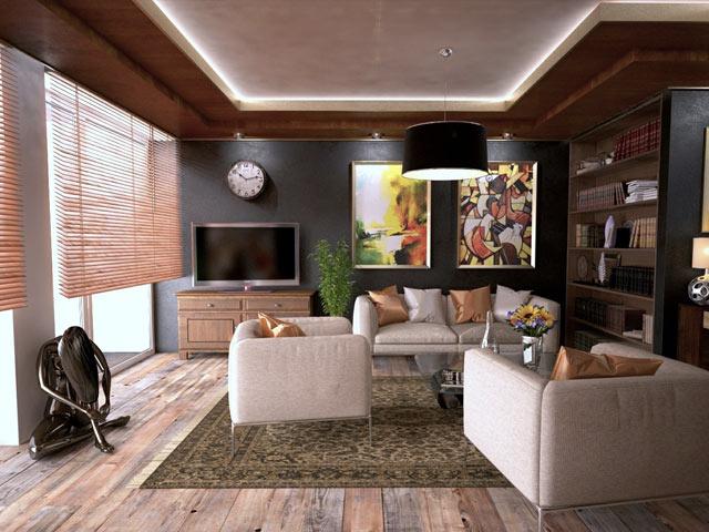Moderne hjem i tre